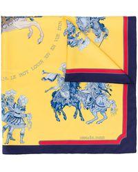 Hermès - Платок Carrousel 1990-х Годов Pre-owned - Lyst