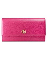 80f50e85aaba Gucci - GG Marmont Leather Continental Wallet - Lyst