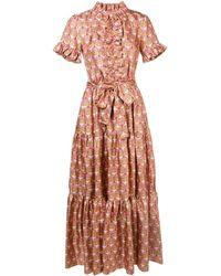 LaDoubleJ - Ruffled Geometric Print Dress - Lyst
