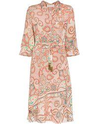 Etro Платье С Запахом И Принтом Пейсли - Оранжевый