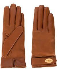 Mulberry Darley Leather Gloves - Brown