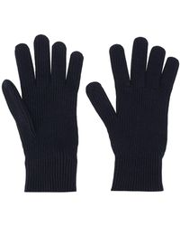 Moncler Перчатки В Рубчик - Синий