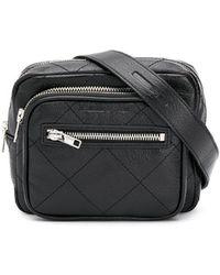 McQ Check Stitch Logo Belt Bag - Black