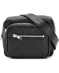 McQ Check Stitch Logo Belt Bag - Black