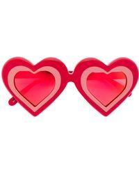 Yazbukey Heart Shaped Sunglasses - Red