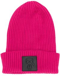 Karl Lagerfeld 'K/Ikonik' Beanie - Pink