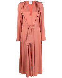 Forte Forte Платье Миди Со Сборками - Розовый