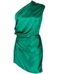 Michelle Mason サテン ドレス - グリーン
