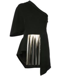 Yigal Azrouël   One Shoulder Pleated Blouse   Lyst