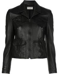 Saint Laurent Куртка На Молнии - Черный