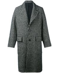 AMI - Houndstooth Pattern Coat - Lyst