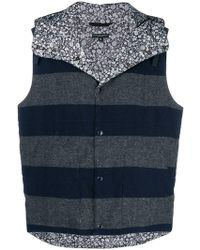 Engineered Garments - Striped Reversible Gilet - Lyst