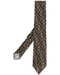 Fendi Cravate à motif monogrammé - Noir