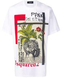 DSquared² - T-shirt Punk Revolution - Lyst