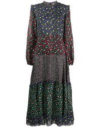 RIXO London Vestido Billie Mixed Ditsy con motivo floral - Multicolor