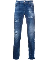 Dondup Distressed Skinny Jeans - Blue