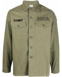 Maharishi Camicia con stampa - Verde