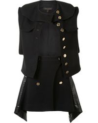 Louis Vuitton Pre-owned Waistcoat And Skirt Suit - Black