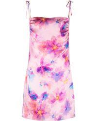 Frankie's Bikinis Margrette Tie-dye Mini Slip Dress - Pink