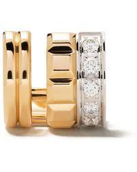 Boucheron Quatre Radiant Edition ダイヤモンド イヤリング 18kイエロー ホワイトゴールド - メタリック