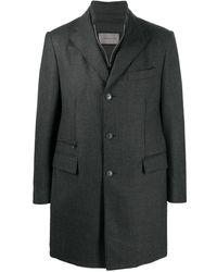 Corneliani チェック シングルコート - グレー