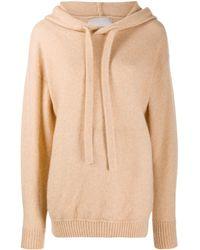 Laneus Drawstring Hooded Sweater - Natural
