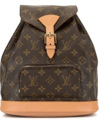 Louis Vuitton Pre-owned Montsouris Mm Backpack - Brown
