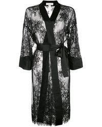 Fleur du Mal Cillis Lace Robe - Zwart
