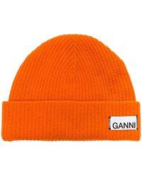 Ganni Gebreide Muts - Oranje
