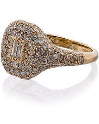 SHAY - 18k Yellow Gold Buckle Diamond Ring - Lyst