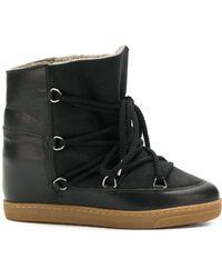 Isabel Marant Nowles Snow Boots - Black