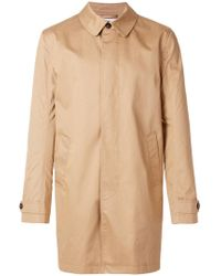 Closed - Buttoned Raincoat - Lyst
