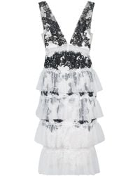 Notte by Marchesa - Ruffle Embroidered Cocktail Dress - Lyst
