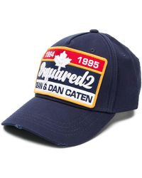 DSquared² Gorra de béisbol con parche del logo - Azul