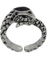 Roberto Cavalli - Engraved Snake Ring - Lyst