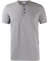 Dolce & Gabbana ボタン Tシャツ - グレー