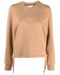 Fendi ロゴ スウェットシャツ - ブラウン