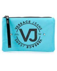 Versace Jeans - Studded Logo Make-up Bag - Lyst