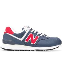 New Balance 574 Low-top Sneakers - Blauw