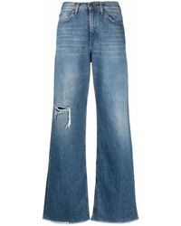 Haikure Jeans a gamba ampia - Blu