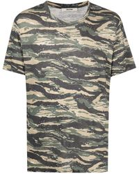 Zadig & Voltaire Tommy カモフラージュ Tシャツ - グリーン