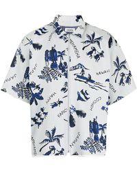 Coohem Aloha Jacquard Shirt - White