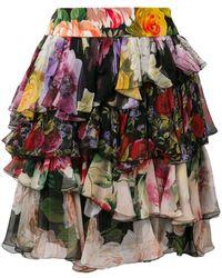 Dolce & Gabbana - ラッフル ミニスカート - Lyst