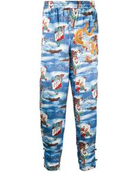 Doublet Aloha Kung Fu パンツ - ブルー