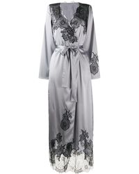 Myla Pansy Gardens Long Robe - Metallic