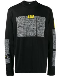 DIESEL Void ロングtシャツ - ブラック
