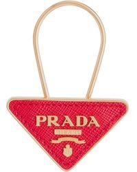 Prada Logo Keyring - Red