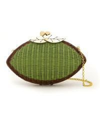 Serpui - Wicker Clutch - Lyst