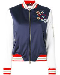 Bazar Deluxe - Floral Embroidery Bomber Jacket - Lyst