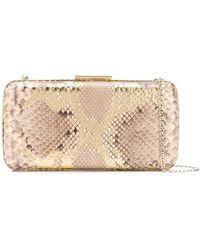 Gianvito Rossi Snake Print Clutch - Multicolour